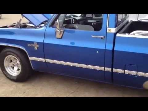 1983 Chevy Truck >> Candy blue 83 Chevy silverado shortbed - YouTube