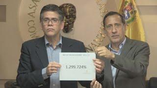 Venezuela alcanza una inflación de casi 1.300.000 % en un año, según Parlamento