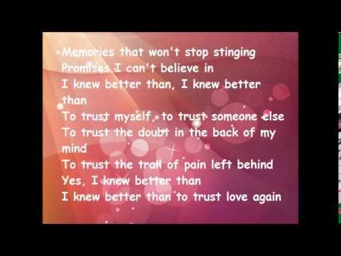 CHRISTINA PERRI Trust lyrics