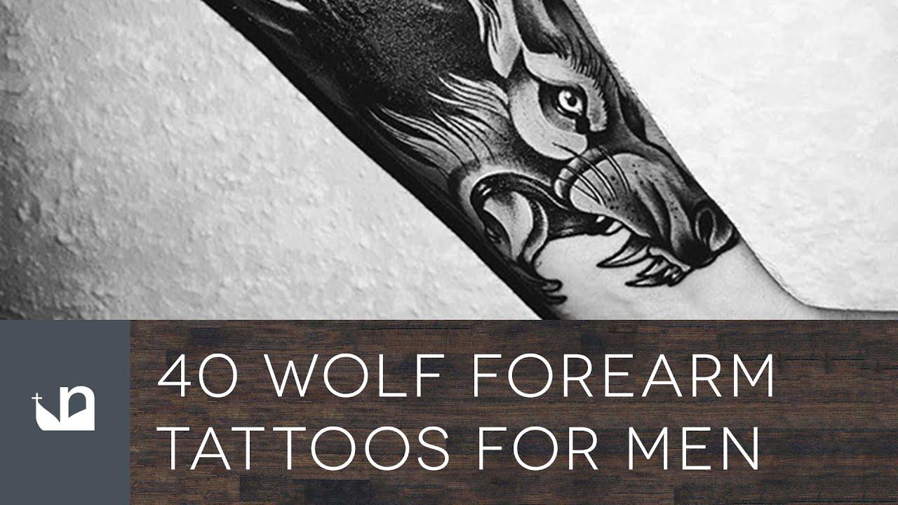 40 Wolf Forearm Tattoos For Men - YouTube