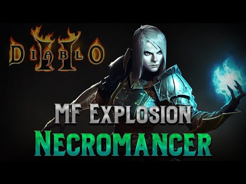 The Magic Finding Explosion Necromancer Build - No Summons - 700 Plus % Magic Find - Diablo 2