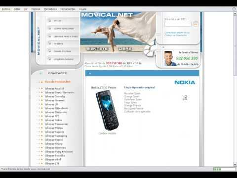 Liberar nokia 7500 prism en movical net youtube - Movical net liberar ...