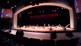 The Cooper City High School color guard, under the direction of Mar...