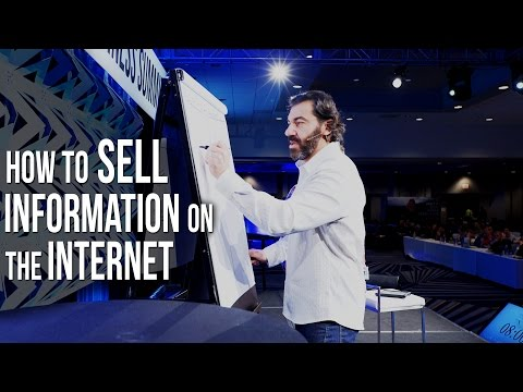 How To Sell Information on The Internet