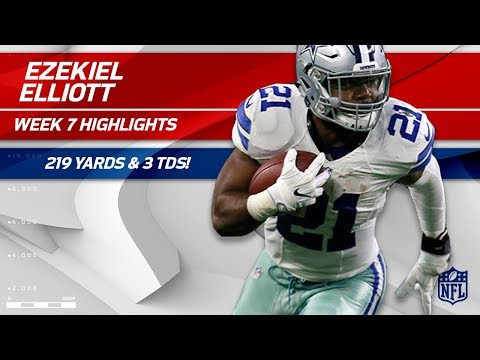 Ezekiel Elliott Explodes for 219 Total Yards & 3 TDs! | Cowboys vs. 49ers | Wk 7 Player Highlights