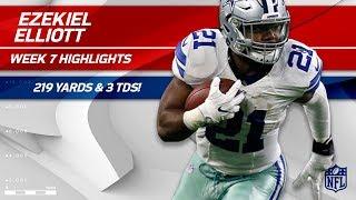 Ezekiel Elliott Explodes for 219 Total Yards & 3 TDs! | Cowboys vs. 49ers | Wk 7 Player Highlights