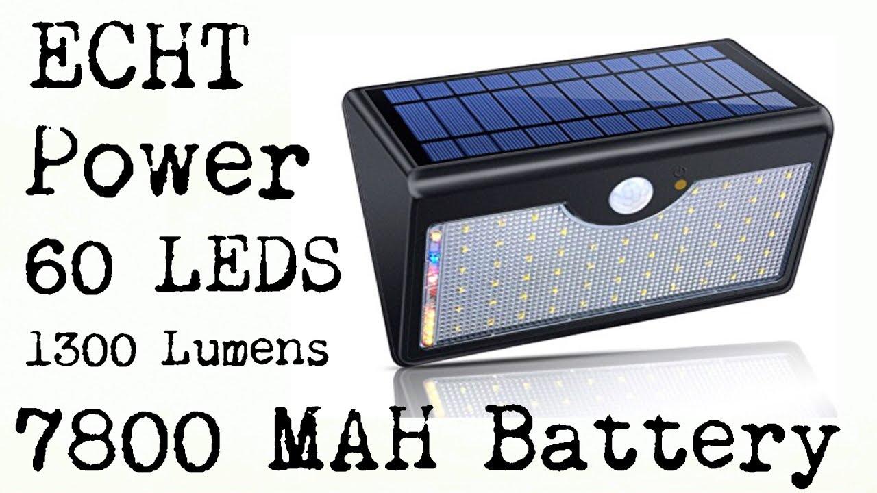 Echt power 60 led solar motion detector security light 1300 lumens echt power 60 led solar motion detector security light 1300 lumens aloadofball Choice Image