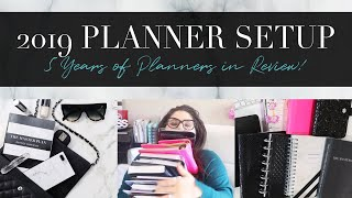 HOW I'VE ORGANIZED MY PLANNER FOR 2019 | 5 Years of Planner Setups in Review