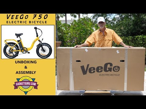 Veego 750 Electric Bicycle -  Unboxing And Assembly