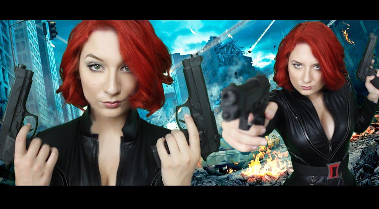 Black Widow Makeup Hair Tutorial Youtube