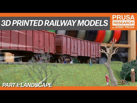 3D printed railway models, part I: Landscape
