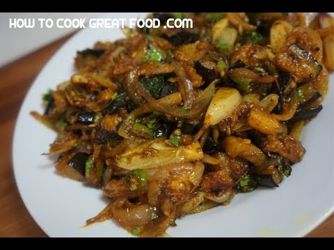 Brinjal fry recipe eggplant onion dry indian curry youtube forumfinder Image collections