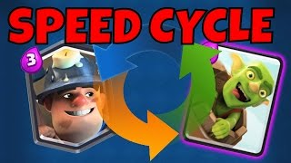 Clash Royale :: 2.5 ELIXIR! FASTEST CYCLE EVER! Goblin Barrel Miner Deck
