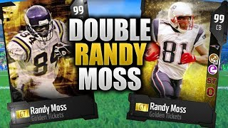 TWO NEW RANDY MOSS GOLDEN TICKETS | Madden 18 Ultimate Team New Randy Moss