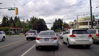 Driving in Vancouver Canada - GRANVILLE Street - Route to Airport & Richmond BC - City Tour
