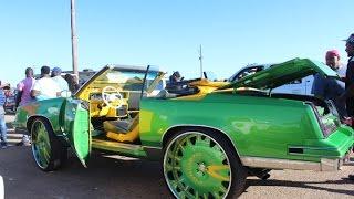 "Veltboy314 - Candy Green Vert Cutlass On 28"" Forgiato Wheels - Freak Nik 2K17 Car Show"