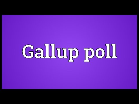 Gallup poll Meaning