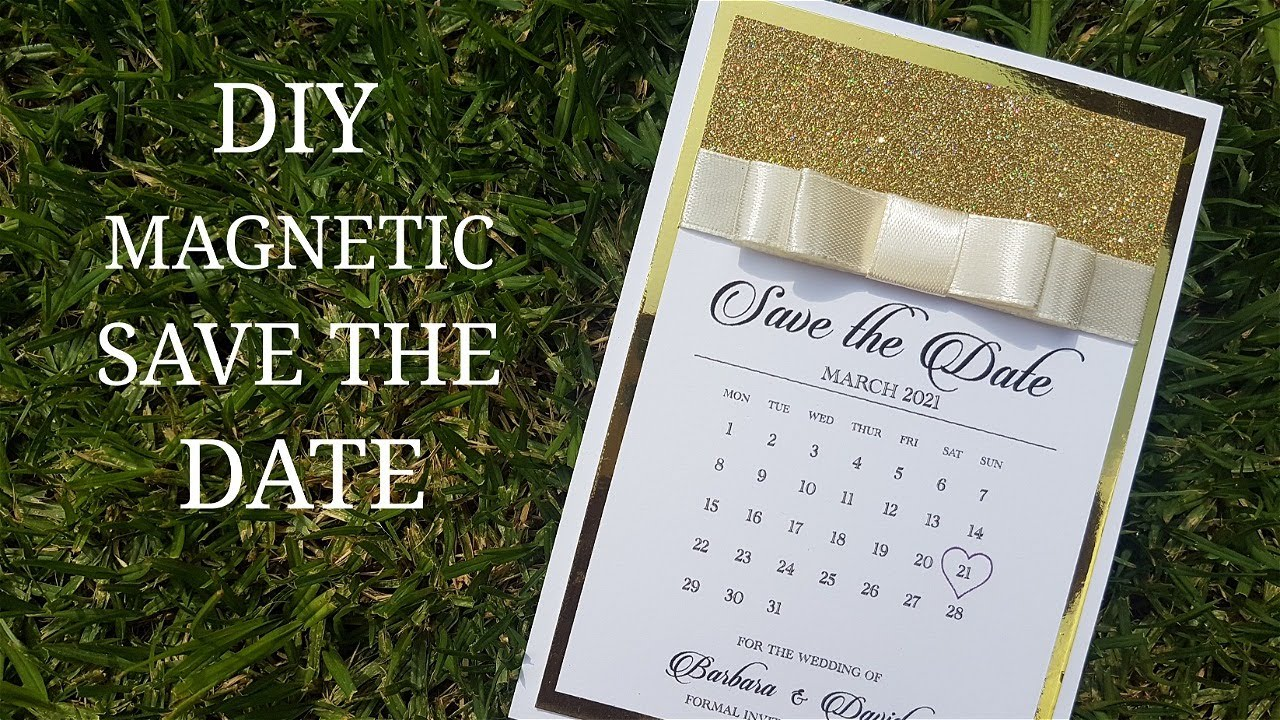 Download Magnetic Save the Date (HOW TO)