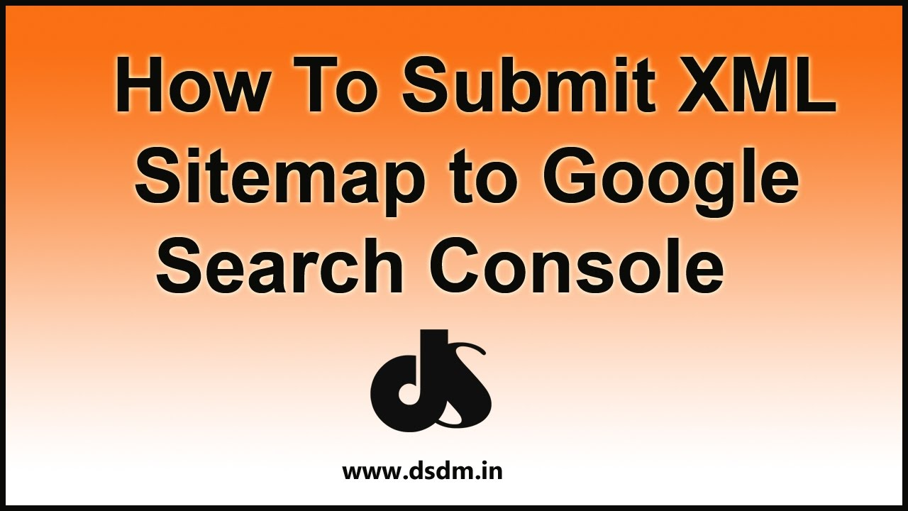 how to submit xml sitemap to google search console youtube