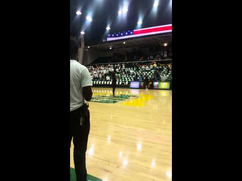 College National Anthem Performance