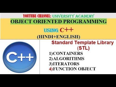 Oop Standard Template Library Stl In C Youtube
