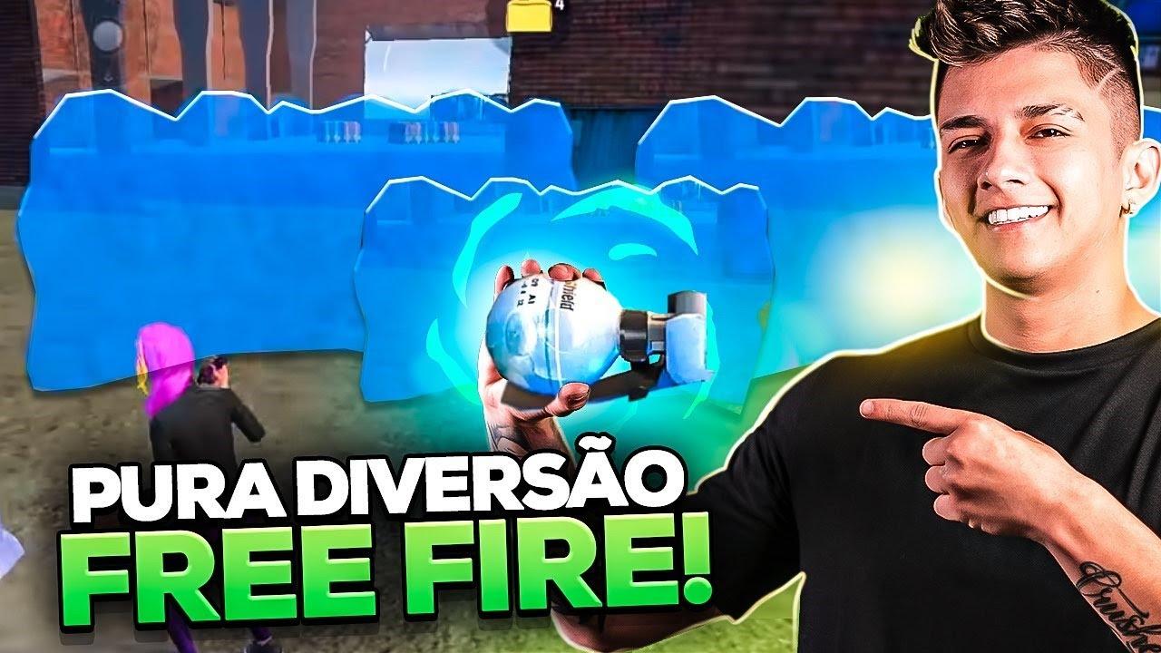 BRINQUEI COM TODOS OS GELOS NO FREE FIRE 😜