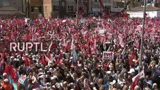 LIVE  Erdogan holds rally in Istanbul day before Turkey's constitutional referendum