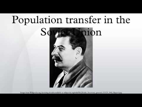 Population transfer in the Soviet Union