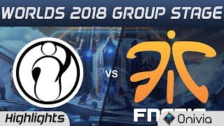 IG vs FNC Highlights Worlds 2018 Group Stage Invictus Gaming vs Fnatic by Onivia