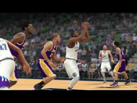 D'Lakers Episode 50 vs. Jazz in Salt Lake City - NBA 2K17 MyLeague