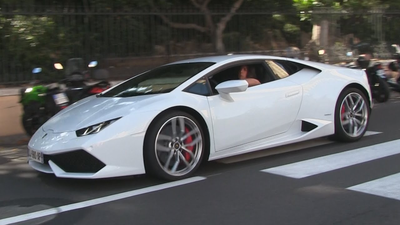 lamborghini huracan terrorizes the streets of monaco insane sound youtube. Black Bedroom Furniture Sets. Home Design Ideas