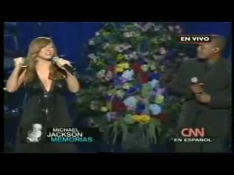 Funeral Michael Jackson Mariah Carey ft Trey Lorenz singing I¨ll Be There