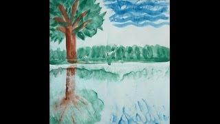 Рисовалки для детей Монотипия Отражение в воде