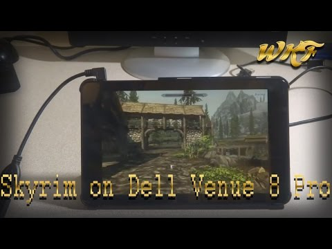 Skyrim on Dell Venue 8 Pro tablet