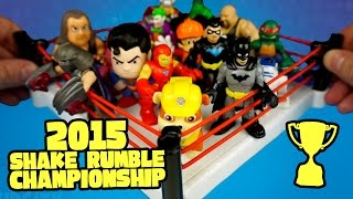 2015 Shake Rumble Finals with Batman Toys Justice League Toys Spiderman Toys and WWE Toys