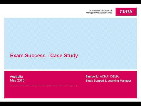 CIMA Strategic Case Study Exam Feb'18 exam - YouTube