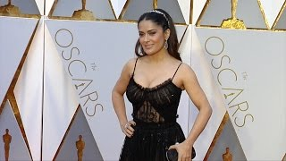 Salma Hayek 2017 Oscars Red Carpet