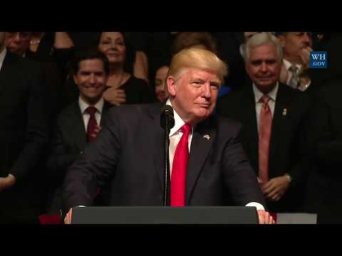 President Donald Trump Gives Speech in a Signing on the US Policy Towards Cuba