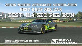 Real Racing 3 Aston Martin Autocross Annihilation Best Race Per Car - Best 11,4 sec Per Run RR3
