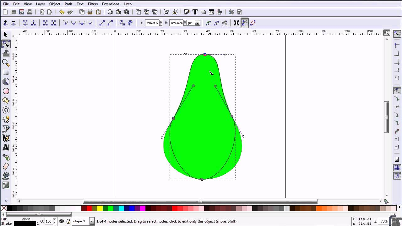 Inkscape Tutorial Making A Vector Outline Of A Pear From