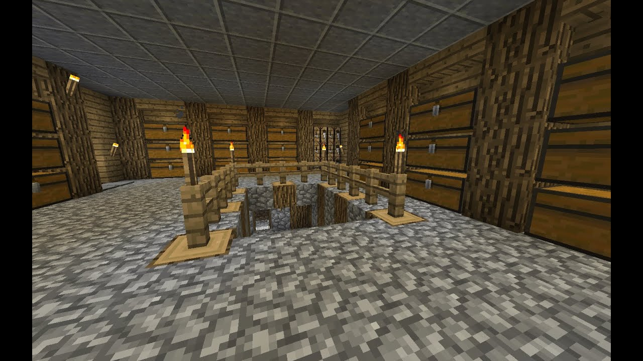Ordinary Minecraft Basement Ideas Part - 5: Minecraft Tutorial: Simple Basement