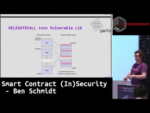 #HITB2018AMS CommSec D2 - Smart Contract (In)Security - Ben Schmidt