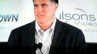 Mitt Romney Loves Cars, Lakes, & Trees...