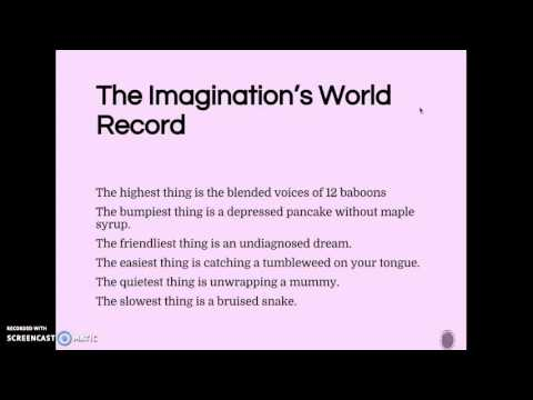 Free form poetry - The Imaginations World Record