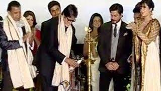 Shahrukh Khan, Amitabh Bachchan, Kamal Haasan & Mithun Chakraborty at a film festival
