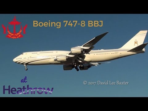 Sultan's Brunei Flight  Boeing 747-430 V8-ALI  | FunnyCat TV