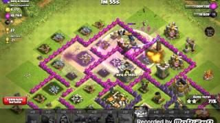 Ataque de Golems y Magos -Clash of Clans-