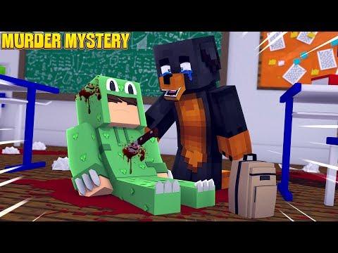 Minecraft MURDER MYSTERY - WHO MURDERED LITTLE LIZARD??