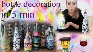 Bottles Decoration In 5 Min!