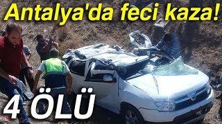 Otomobil Şarampole Yuvarlandı: 4 Ölü
